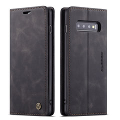 Leather Case for Samsung Galaxy S10 S9 S8 Plus S7 Edge,CaseMe Retro Purse Luxury Magneti Card Holder Wallet Cover for Note 10+