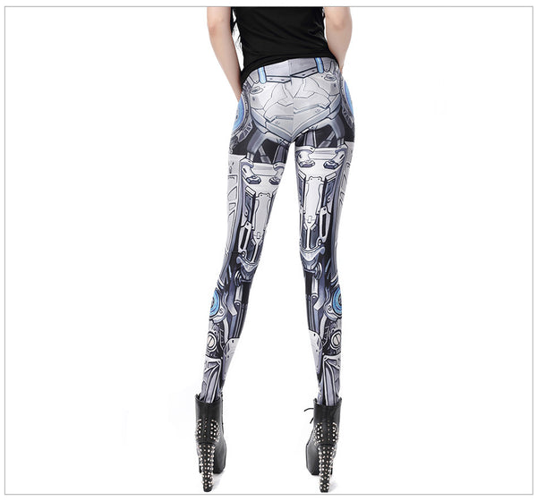 Steampunk Women Pant Star Wars leggins High Waist Mechanical Gear 3d Print Leggings for Women
