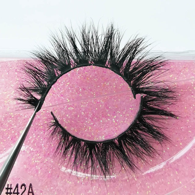1 Pair 3D Mink Lashes Makeup Wispy Fluffy Mink Eyelashes Natural Long False Eyelashes Extension Fake Lashes Maquillaje 39A