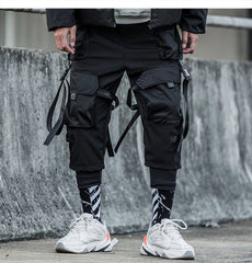 Ribbons Multi Men Harajuku Trouser Hip Hop Streetwear Pants