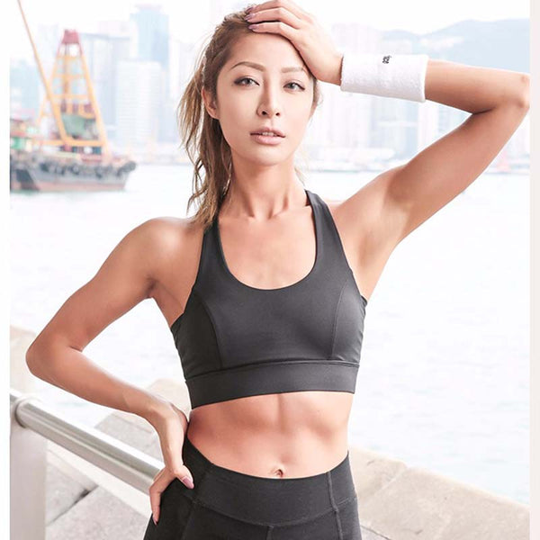 New Style White Strap Push Up Sports Bra for Women yoga top
