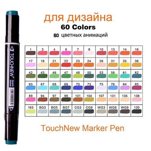 Art Drawing Marker Pen ,  40 60 80 168 Colors Alcohol Graphic Art Sketch Twin Marker Pens Gift sketchbook for painting