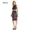 Skirts Fitness New 2017 Fashion Women's Sexy Aztec Round Ombre Skirts High Waist Package Hip Skirt Saia Midi Plus Size