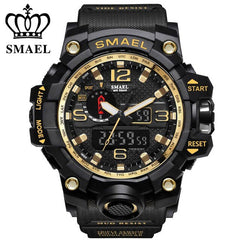Sports Watches Men Dual Time Camouflage Military Watch Men Army LED Digital Wristwatch 50M Waterproof Men's Clock