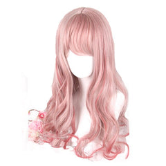 Pink Mixed Red Lolita Wigs Long Loose Wave Christmas Cosplay Wig Harajuku Wig Heat Resistant Synthetic Hair