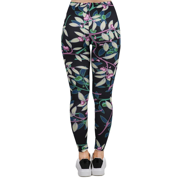 Women Sport Leggings Tree Branch Dark Printing Leggins Slim High Elasticity Legins Popular Fitness Leggings Female Pants
