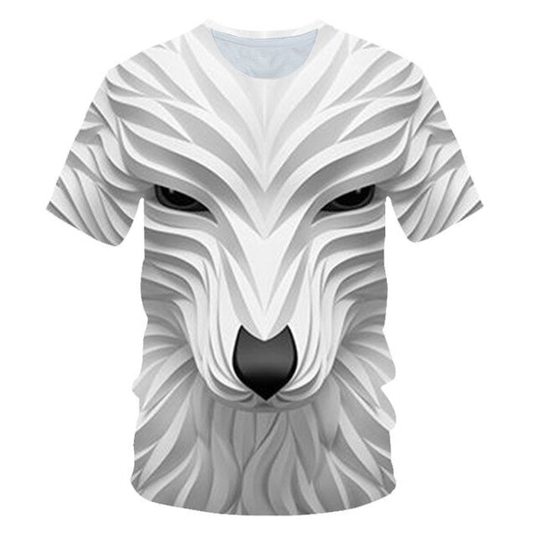 Wolf T shirt Women Snow Clothing Jungle Tshirt Tops Clothes 3d T-shirt Womens Hip hop Sexy Top Tee Female