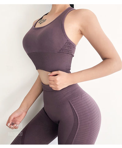 Women Gym Clothes Sportswear Female Workout Set Active Wear ropa deportiva mujer
