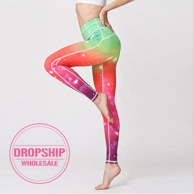 Running Fitness Yoga Pants Women Workout Print Leggings Training