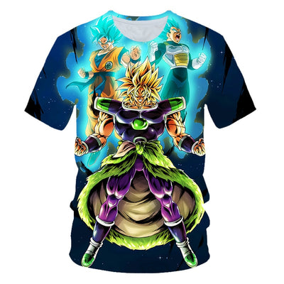 New Arrival Cool Goku Dragon Ball Z 3d T Shirt Summer Fashionable Short Sleeve Tee Tops Men Anime DBZ Harajuku T-Shirts Kid