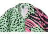 Men Hawaiian Shirt Zebra Stripe Leopard Print Patchwork