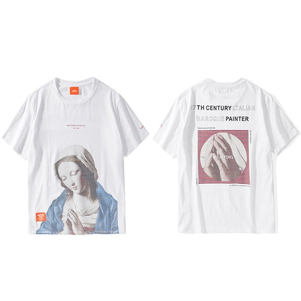 Madonna T Shirt Men Hip Hop Funny T-Shirt Streetwear Summer Tshirts Virgin Mary Vintage Print Cotton Tops Tees