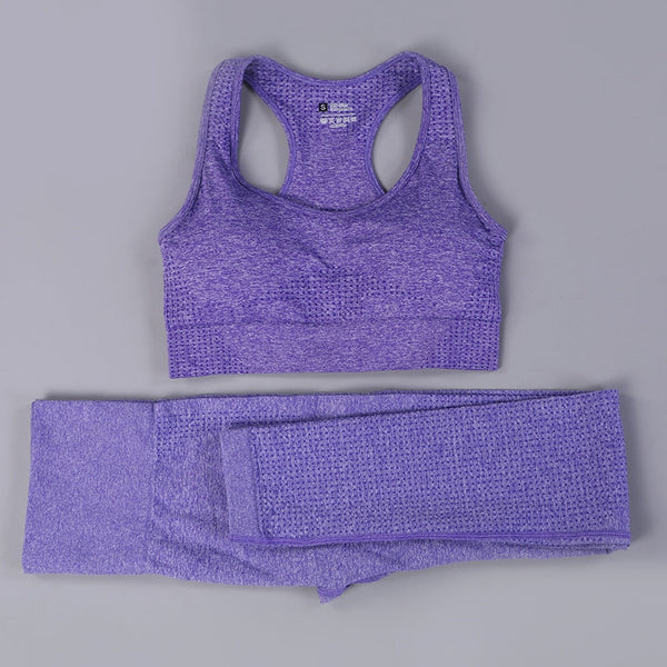 Fitness clothes women gym sets 2 piece vital seamless yoga set