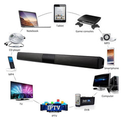 20W Wireless Column Bluetooth Speaker TV Soundbar Stereo Sound Home Theater Sound Bar TF USB For TV PC