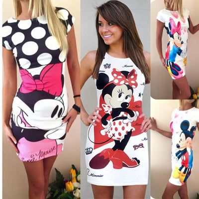 Women Casual Polka Long Girls Party Dresses Sexy