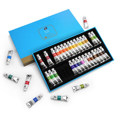 Paul Rubens Caroline Students Grade 36 Watercolor Paints Set, 5ML Each Tube, Prefect For Beginner, Hobbyist and Student