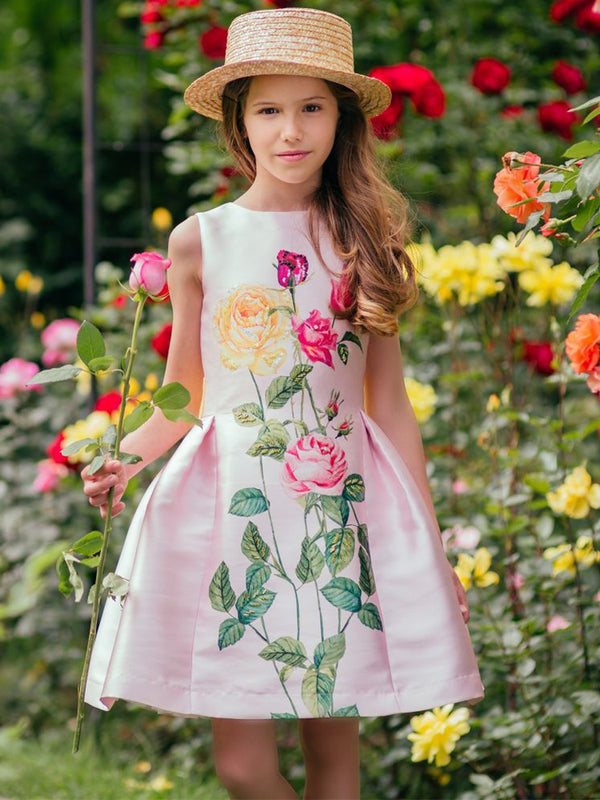 Toddler Girl Dresses with Sashes Girls Summer Dress Children Flower Princess Party Dress