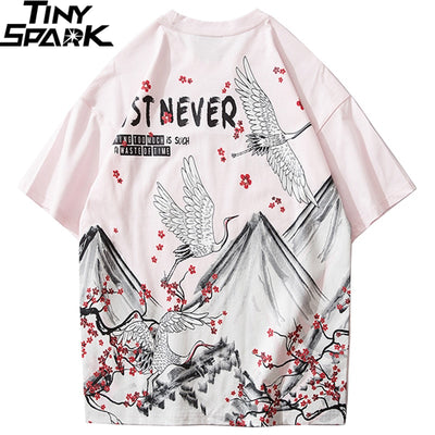 Harajuku Hip Hop Tshirt Japanese Clothing Summer Cotton T-Shirt Short Sleeve Hipster