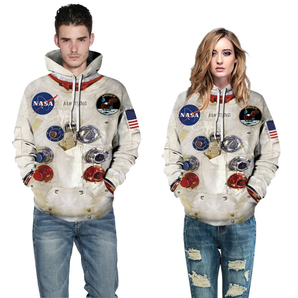 3D Armstrong Space Suite Hoodies Men/Women Casual Spacesuit