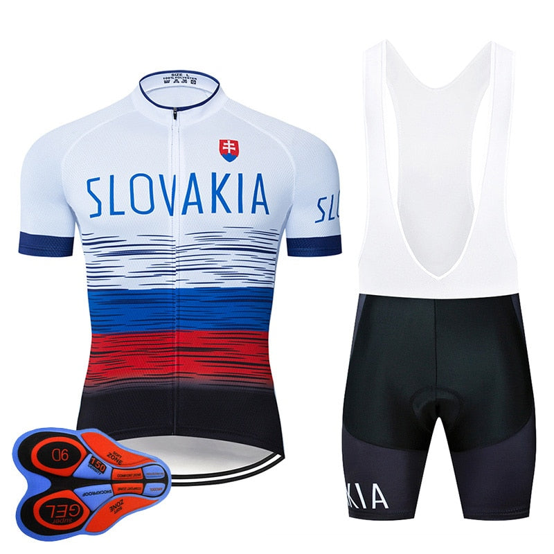 SLOVAKIA Cycling Clothing 9D Set MTB Jersey Bicycle Clothes Ropa Ciclismo Mens Quick Dry Bike Wear Short Maillot Culotte
