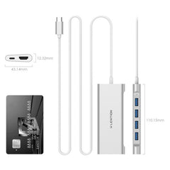 Lention long Cable USB C Multiport Hub with 4K HDMI, 4 USB 3.0, Type C Charging Adapter for MacBook Pro 13/15 (Thunderbolt 3 )