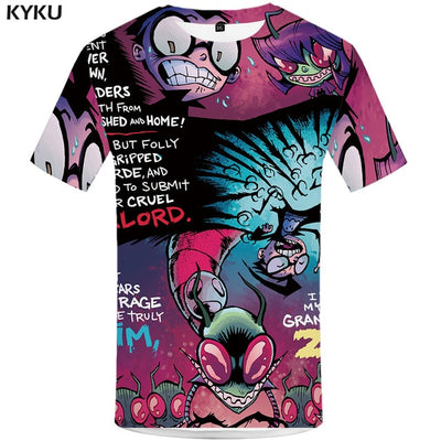 Men Mummy Anime Clothes Gothic Shirt Print Punk Tshirt Printed Tshirts Casual Short Sleeve summer
