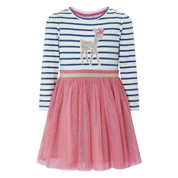 Long Sleeve Unicorn Dress Baby Girls Clothes  Brand Winter Kids Dresses