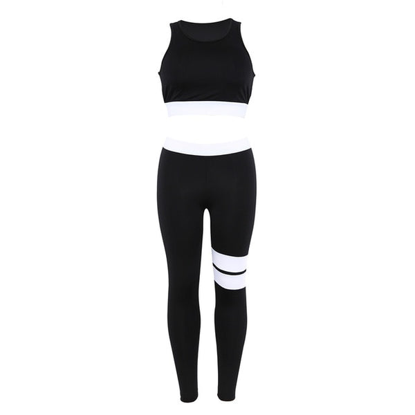 Gym Clothing for Woman Yoga Fitness Sets 2 Piece Wear Leggings Sport Suit