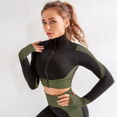 Workout Yoga Sets Women Stretchy Sport Fitness Suits