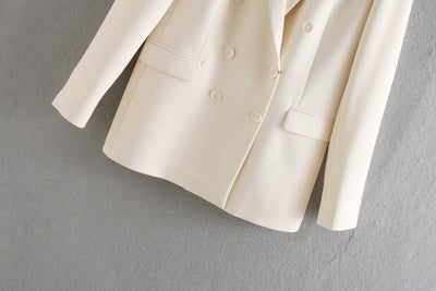 Women summer blazer double breasted jackets ladies formal suit jackets