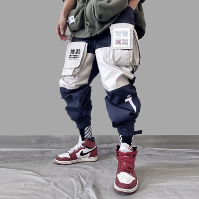 Patchwork Pockets Cargo Pants Men Harajuku Hip Hop Sweatpant Male Joggers Track Trousers Streetwear Techwear