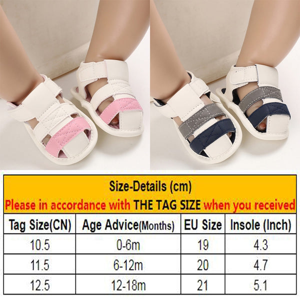 Newborn Toddler Baby Girls Boys Breathable Beach Sandals Kids First Walkers Anti-Slip Soft Crib Pram Shoes