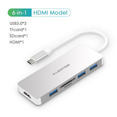 Thunderbolt 3 Dock USB Type C to HDMI HUB Adapter for MacBook Samsung Dex Galaxy S10/S9 USB-C Converter SD/TF Card Readers