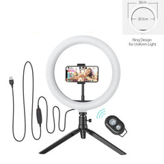 Photo Studio Fill Light Flash LED Phone Holder Selfie Stick bluetooth Remote Live Stream Removable Tripod Stand