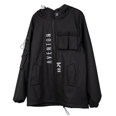 Multi Pockets Cargo Jackets Men Windbreaker Hip Hop Streetwear Outdoor Techwear Jackets Harajuku Cargo Coats