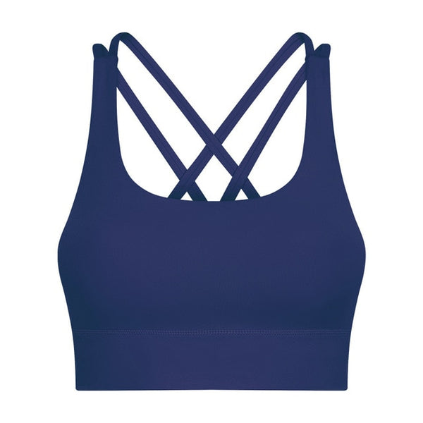 MUST-HAVE 2-Ply Cross Yoga Workout Sport Bra Tops Women