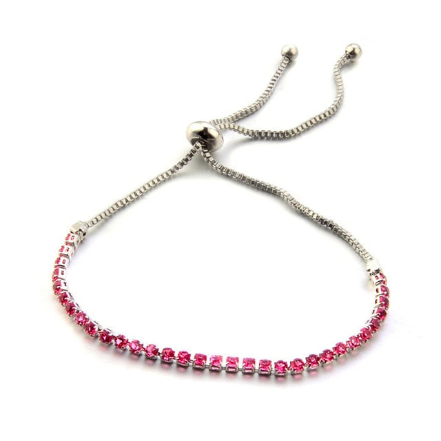 Fashion Brand Designer Charming Bride Wedding Crystal Bracelet Women Jewelry Shiny Rhinestone Chain Bracelet for Female