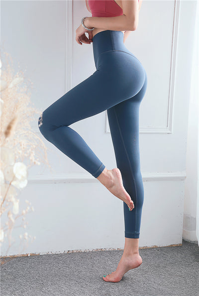 Woman Gym Sport Workout Running Two-sided High Waist Tights