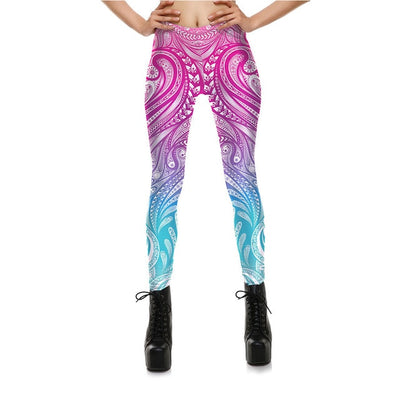 Mask Paisley Mandala Skull Leggings for Women Leggins Digital Print Sexy Fantastic Ankle Pant
