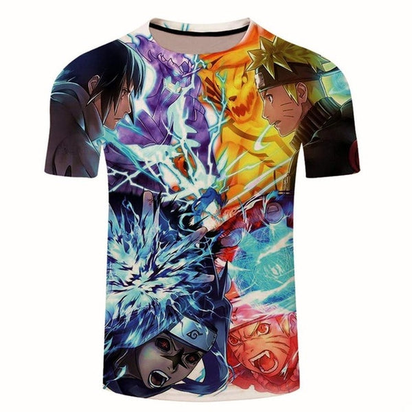 Japan Anime Naruto Uchiha Sasuke Itachi 3D T Shirt Male O-Neck Cartoon Tee Tops Men/Women Cool Harajuku Clothes