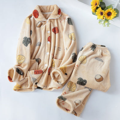 Long Sleeves Pajamas Pink Cute  Animal Homewear  Home Suit