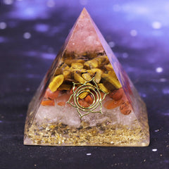 Tiger Eye Crystal For Orgone Pyramid Rose Crystal Energy Generator Yoga Healing/Emf Protection And Meditation Jewelry