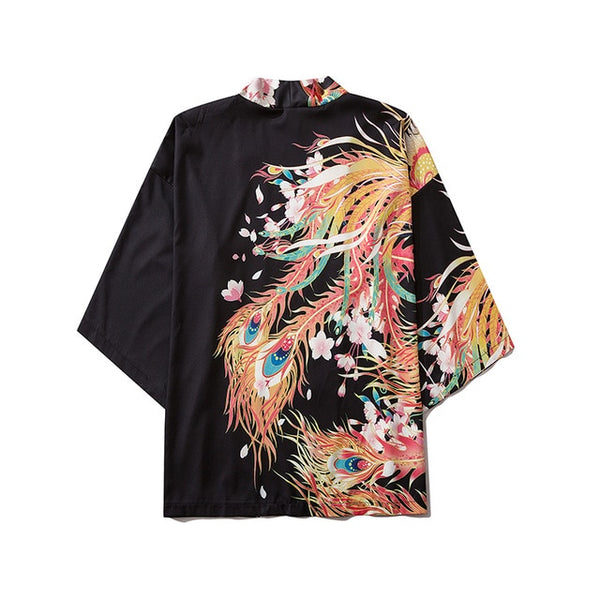Japanese Style Casual Kimono Streetwear Men Women Fashion Cardigan Japan Harajuku Anime Thin Robe Clothes