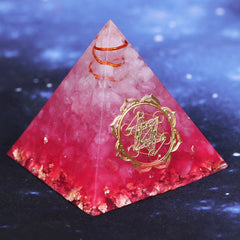 Pink Orion/Ogan Energy Pyramid symbolizing love brings good luck resin decoration craft orgone