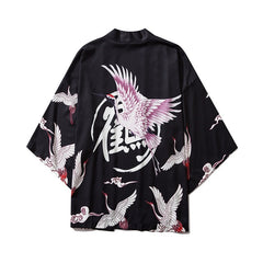 Japan Streetwear Man Beach Kimono Cardigan Cosplay Shirt Blouse for Men Unisex Japanese Yukata Kimonos