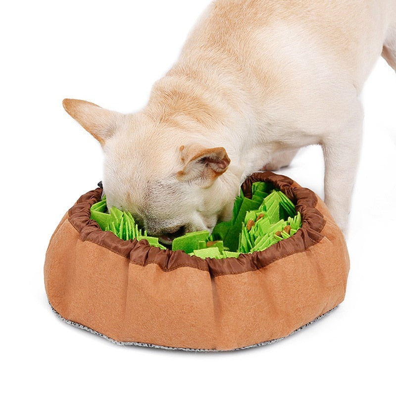 Pet Felt Cloth Leak Food Anti Choking Bowl Mat Dogs Cats Snuffle Bowl Mat Costing Energy Slowing Feeding Intelligence Mat