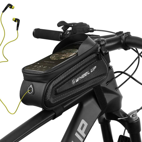 Wheel Up Reflective MTB Bike Bag Touchscreen Bicycle Frame Hard Shell Bags Waterproof Front Top Tube Phone Case Bike Accessories
