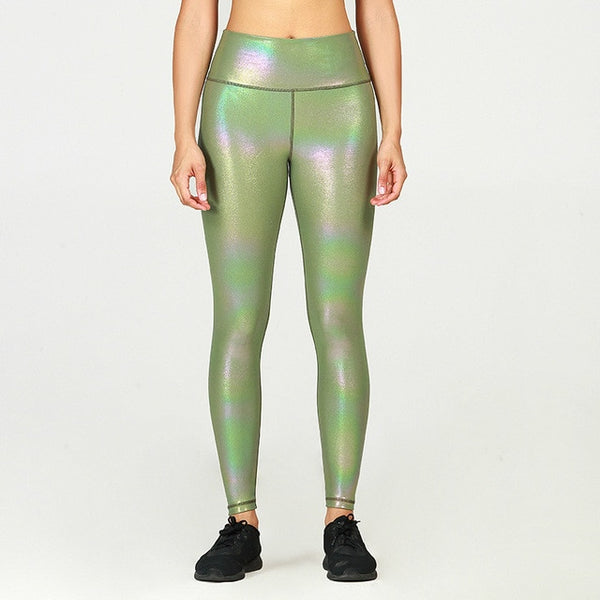 GOLD STAMPING Stretchy Fitness Workout Gym Leggings Women