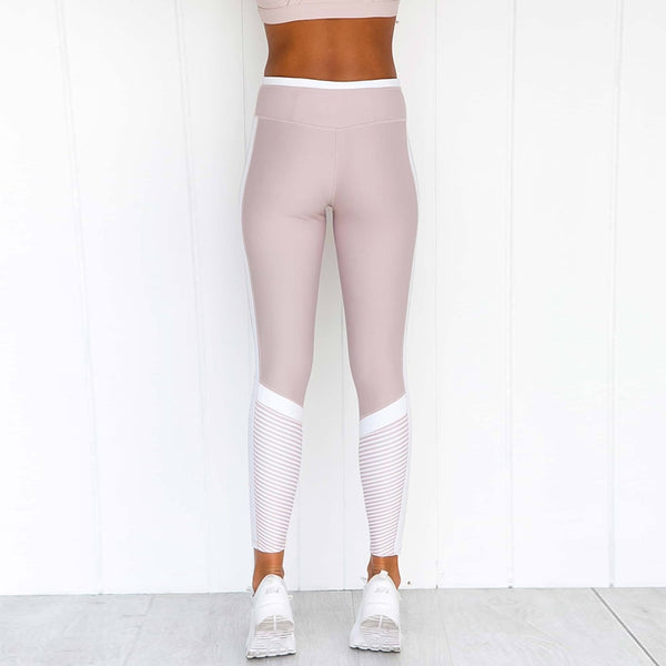 Tummy Control Pink Fitness Leggings Hight Waist Leggings Gym Yoga Pants