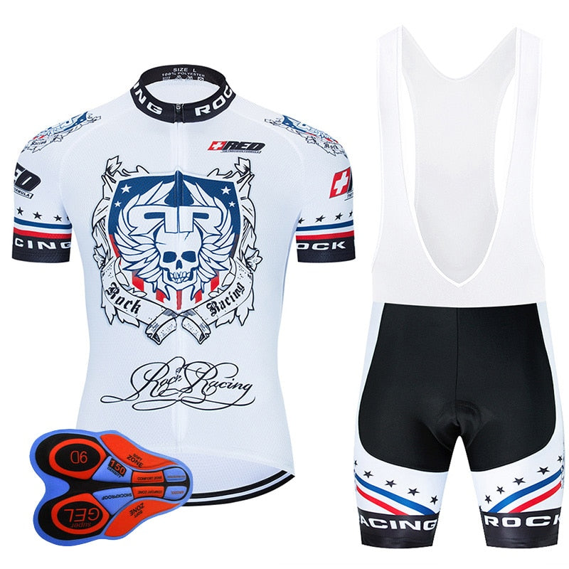 Rock Racing Cycling Clothing 9D Bib Set MTB Uniform Team Bicycle Clothes Quick Dry Bike Jersey Men's Short Maillot Culotte